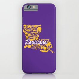 LSU Louisiana Landmark State - Purple and Gold LSU Theme iPhone Case