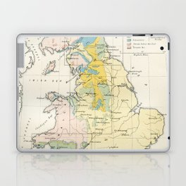 Vintage Map of the Coal Fields of Great Britain Laptop & iPad Skin