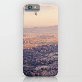 Sunrise Hot Air Balloon Flight iPhone Case