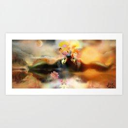 Light Lands adaptive [Digital Figure Illustration] Art Print