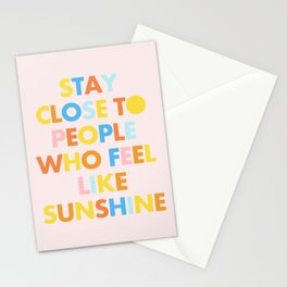Sunshine People Stationery Cards