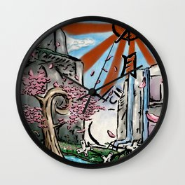 Japan: The Land of Games Wall Clock