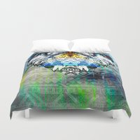 the lion king Duvet Covers featuring KING LION by sametsevincer
