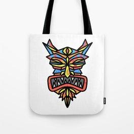 Tribal Demon Mask Tote Bag