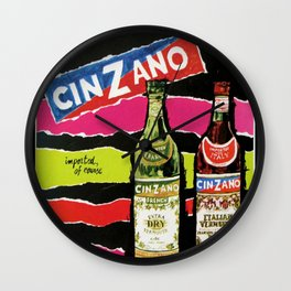 Vintage Cinzano Advertisement Wall Clock
