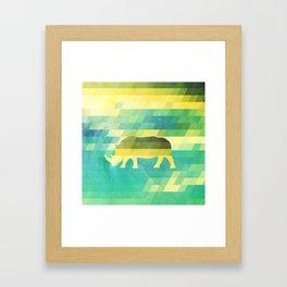 Orion Rhino Framed Art Print