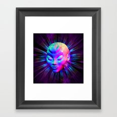 Alien Meditation on Rainbow Colors Framed Art Print
