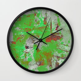 Express Yourself III - Abstract oil painting Wall Clock