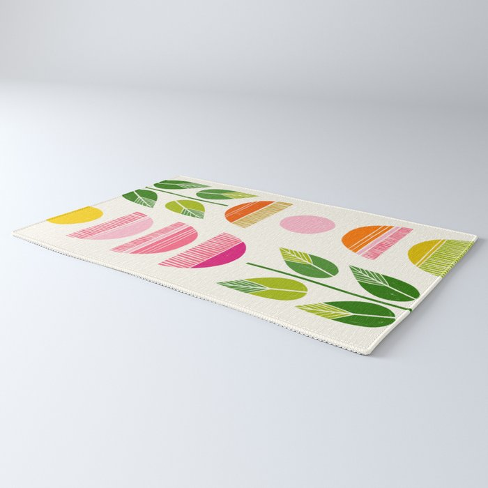 Sugar Blooms - Abstract Retro Inspired Design Rug
