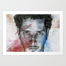 Pretty Noose: Red & Blue: Tribute to Chris Cornell Art Print