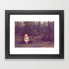 Old Lady Framed Art Print