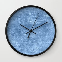 Placid Blue Oil Painting Color Accent Wall Clock