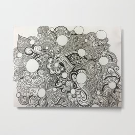 Remixed Compilation Metal Print