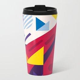 Abstract modern geometric background. Composition 18 Metal Travel Mug