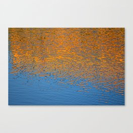 Orange and Blue Water Reflection Canvas Print