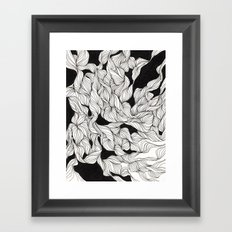 Abstract curlicues Framed Art Print