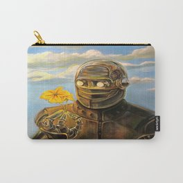 Robot & Flower Carry-All Pouch