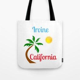 Irvine California Palm Tree and Sun Tote Bag