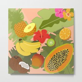 Tropical Fruits Metal Print