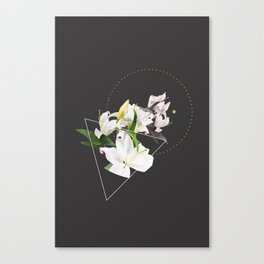 Tropical Flowers & Geometry II Canvas Print