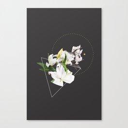 Tropical Flowers & Geometry II Canvas Print