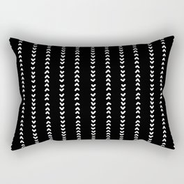 Tribal Aztec Arrow Pattern Design - Black Background Rectangular Pillow
