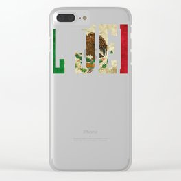 EL HEFE Mexican Design Mexican Flag Design For Men Clear iPhone Case