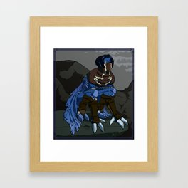 Raziel - Longing gaze Framed Art Print
