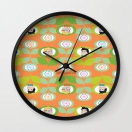 mabo & jimmy garden orange 2 Wall Clock