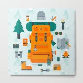 Adventuring Metal Print