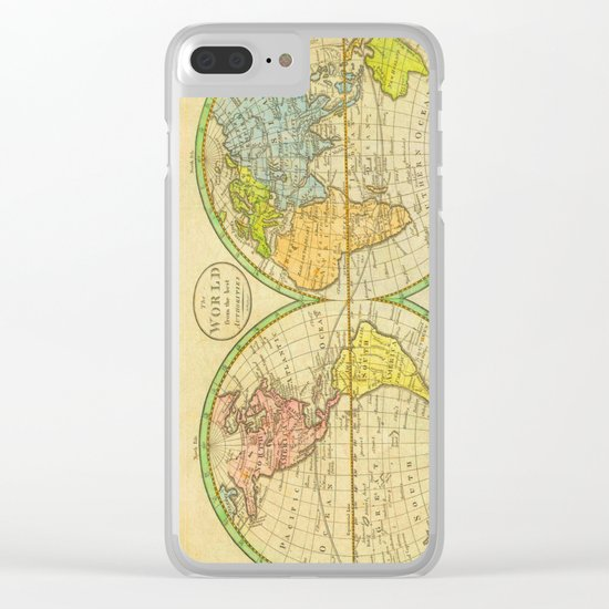 Vintage World Map 1798 Clear iPhone Case