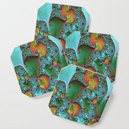 fractal art colorful pattern Coaster