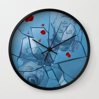 breaking bad Wall Clocks featuring Breaking Bad by Steven P Hughes