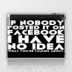 Facebook Problems Laptop & iPad Skin