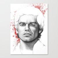 dexter Canvas Prints featuring Dexter  by Olechka