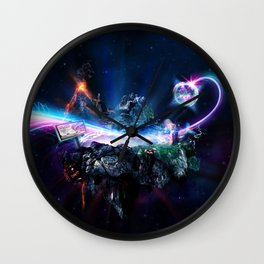 Astronomical Hyper-Surrealism 'Pit Stop' Wall Clock