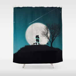 Moon of Love Shower Curtain