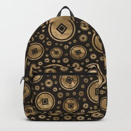 Chinese coins pattern Backpack