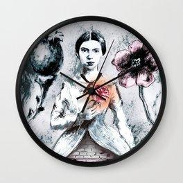 Portrait of Emily Dickinson Wall Clock