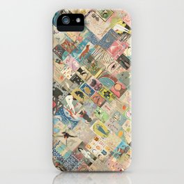 Vintage Japanese matchbox collage iPhone Case