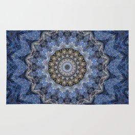 Blue Water Mandala Rug