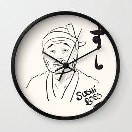 Sushi Boss Wall Clock