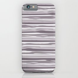 Dark Lavender - Muted Plum Horizontal Grunge Lines Parable Farrow and Ball Brassica Purple 271 iPhone Case