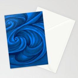 swirl (dark blue) Stationery Cards