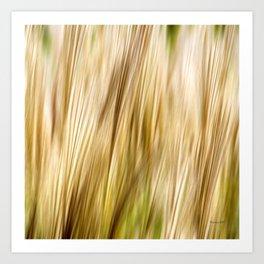 Abstract Fall Grass Art Print