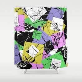 Pastel Marble Tiles Abstract Pattern Shower Curtain