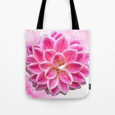 Pretty in Pink Dahlia Tote Bag