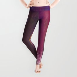 Royalty: a bold, colorful abstract piece in vibrant purples and yellow Leggings