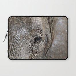 Eye of the elephant, Africa wildlife Laptop Sleeve