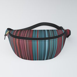 Red and blue stripes pattern Fanny Pack